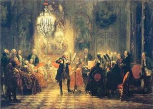 Obra de arte do pintor alemão Adolf von Menzel