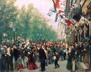 Arte do pintor alemão Adolf von Menzel
