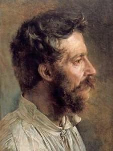 Gênero Painitng pelo pintor alemão Adolf von Menzel